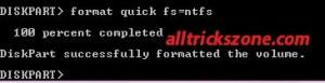 format quick fs=ntfs usb boot