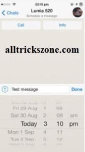Schedule whatsapp sms