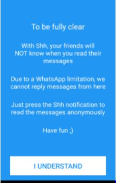 hide SMS on whatsapp without opening