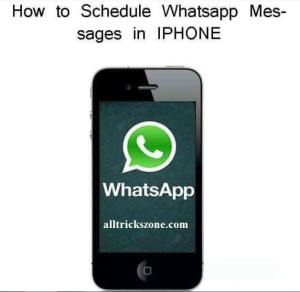 schedule whatsapp messages iPhone