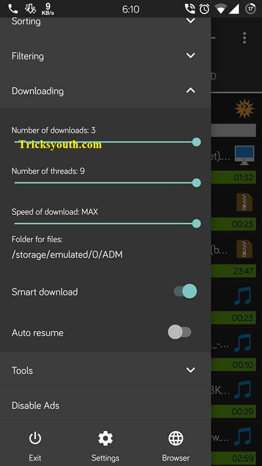 android download speed increase