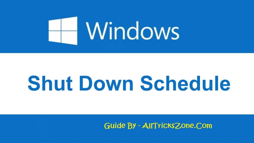 Set Shutdown Timer on Windows