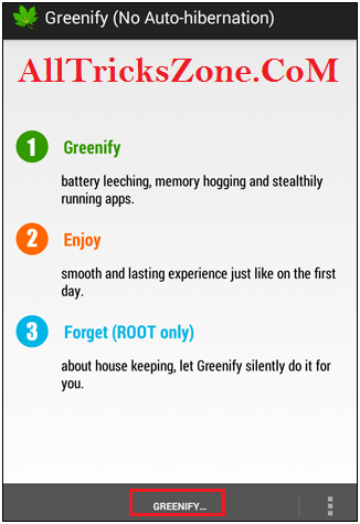 Greenify No root trick