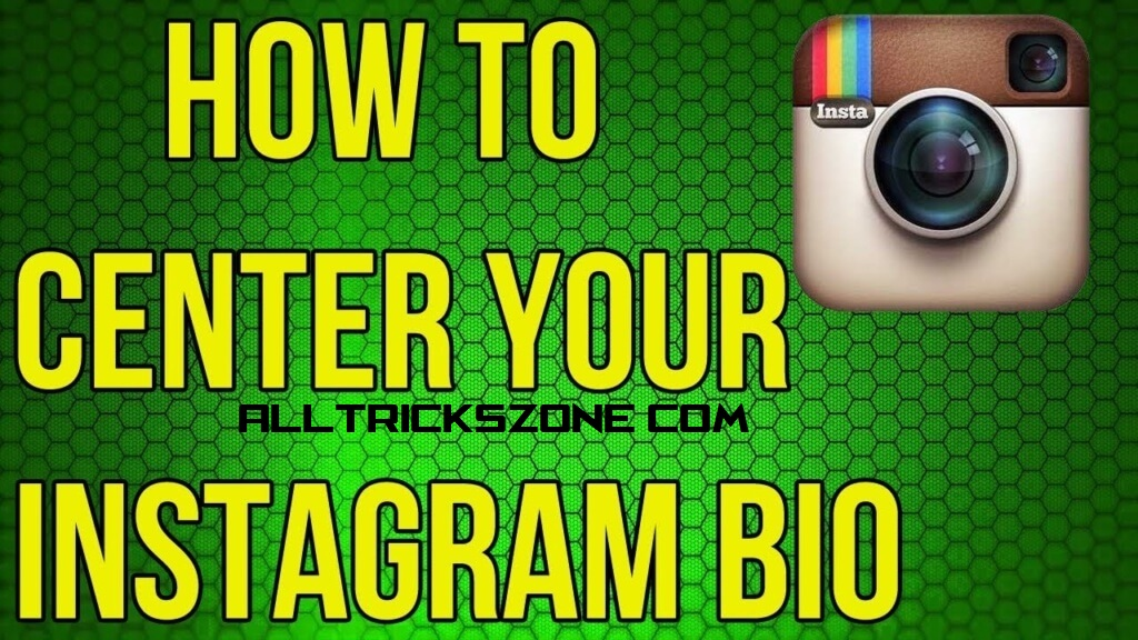How to make Centered Instagram Bio