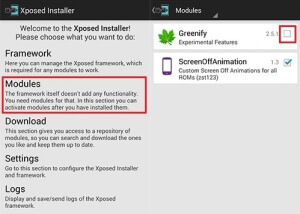 how to use greenify xposed