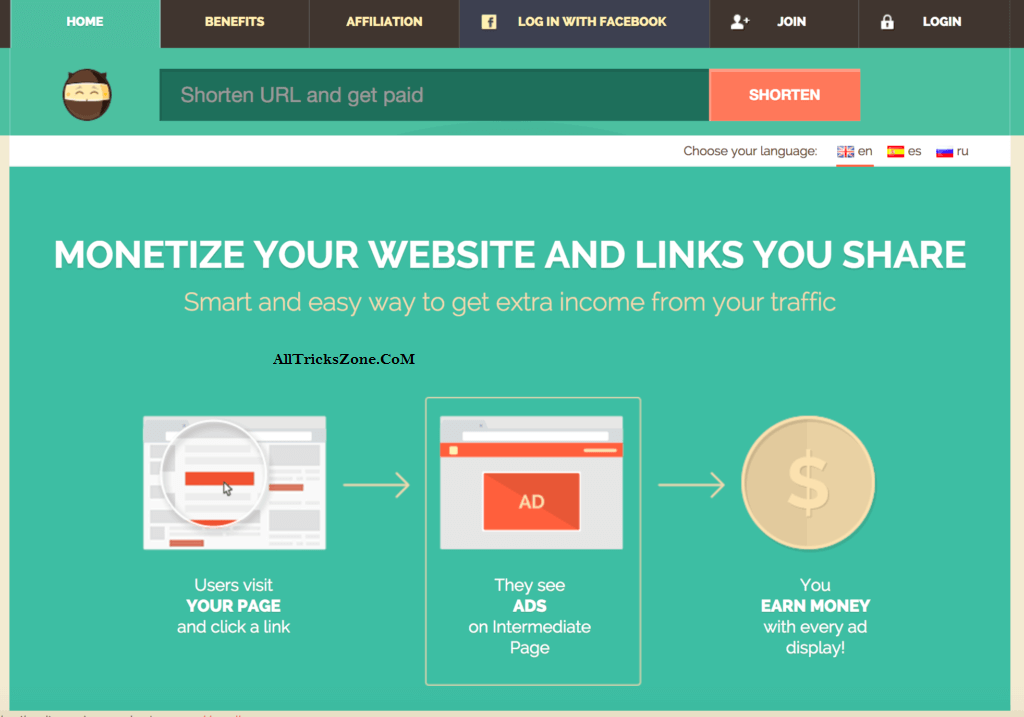 earn money with best url shortener