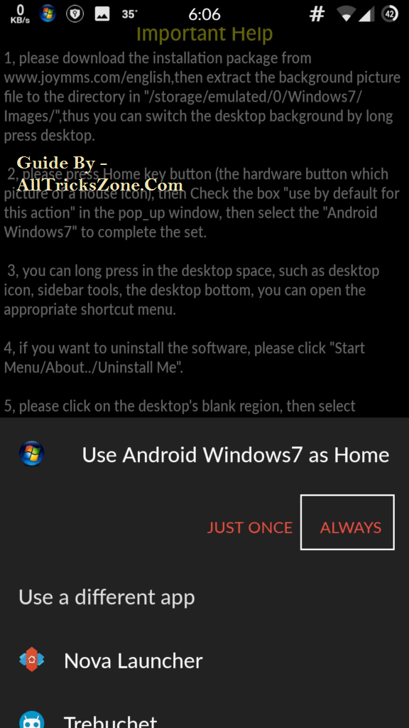 windows 7 launcher for android free download