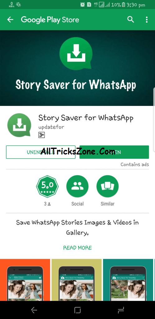 Save WhatsApp Story to phone