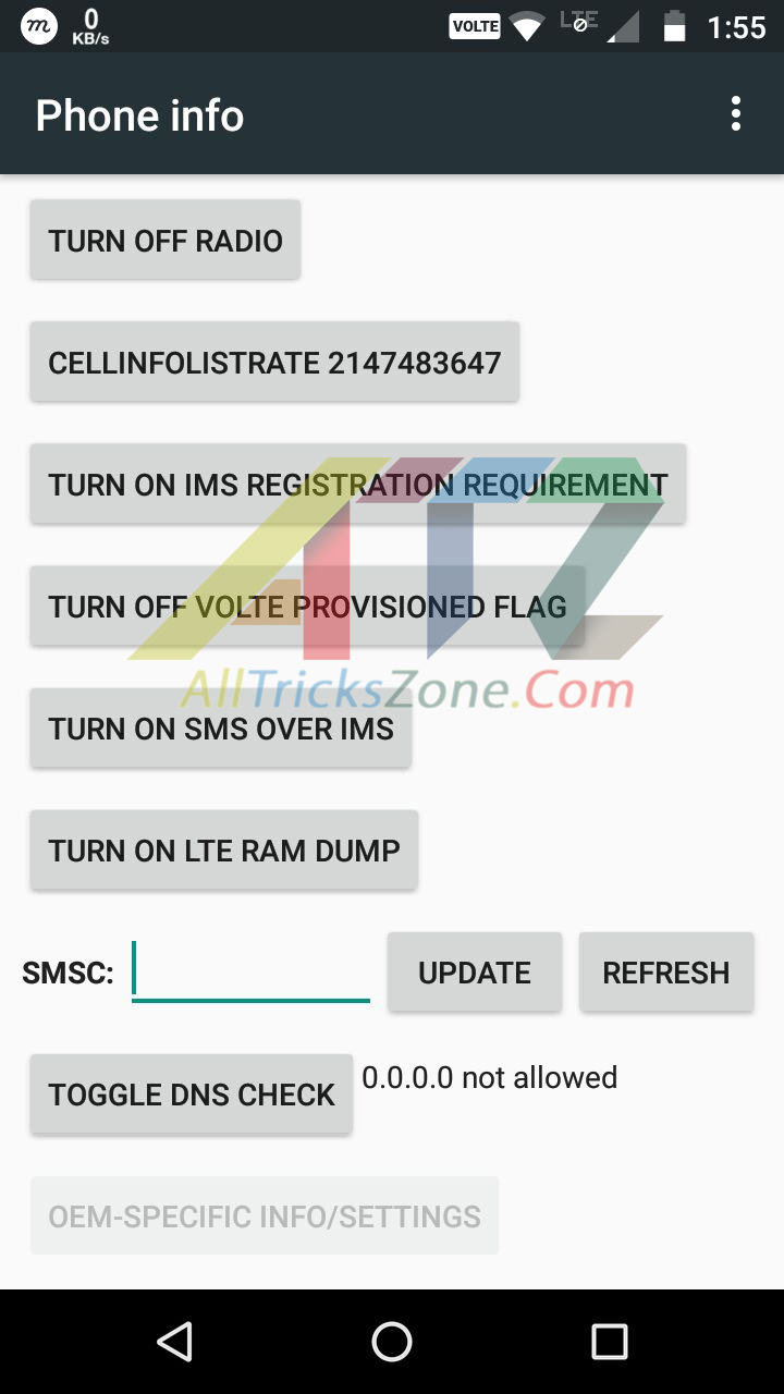Sms center number change android