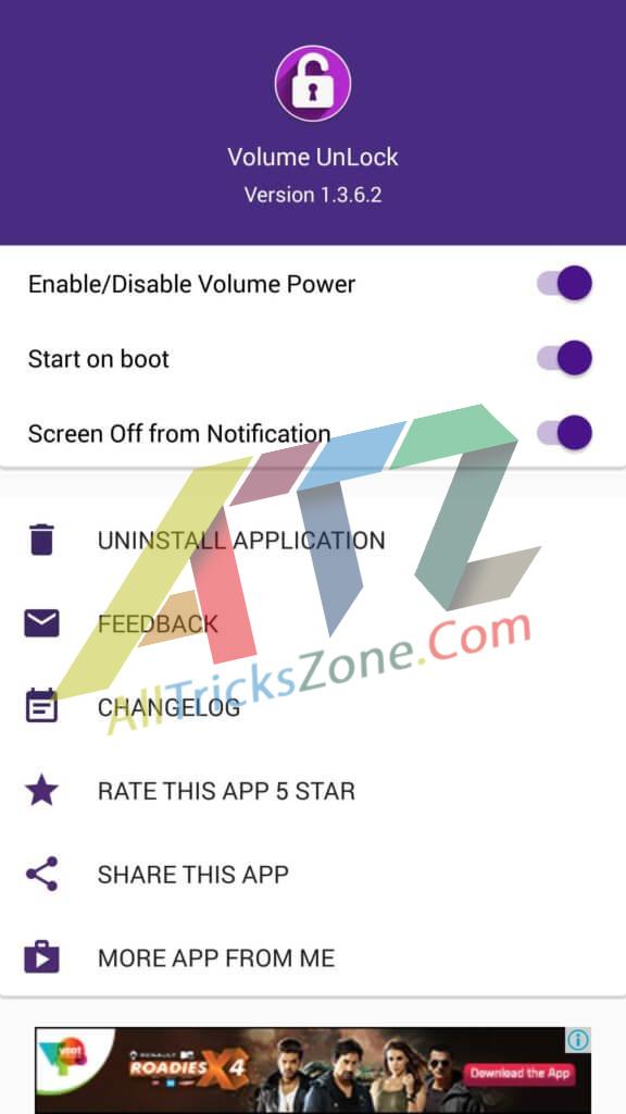 unlock android volume button