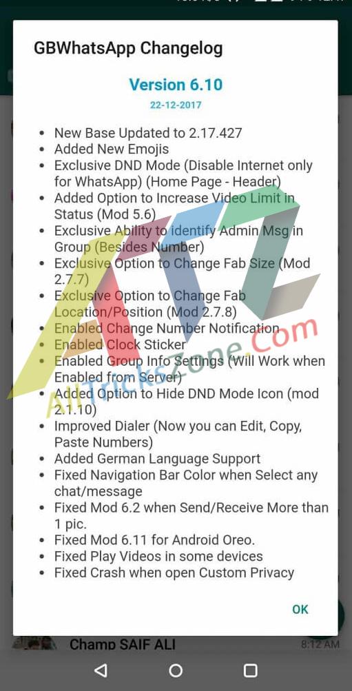 GBWhatsApp Latest Version v6.10